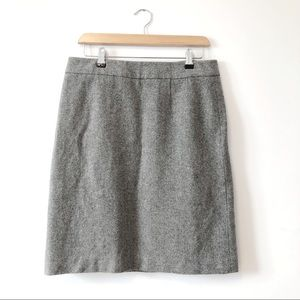 Brooks brothers women wool pencil skirt in grey